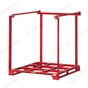 Heavy duty steel stackable storage warehouse pallet nestainer rack