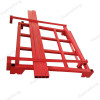 HML heavy duty powder stacking forklift steel squre tube quakeproof nestainer rack for safety