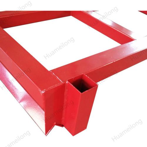 HML heavy duty powder coating stacking forklift steel square tube quakeproof nestainer rack
