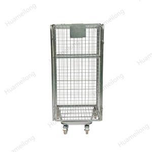 Envase plegable galvanizado portátil del rollo de la malla de alambre de la seguridad de acero del supermercado