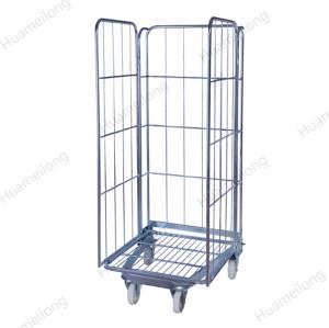 A-frame plegable de almacenamiento de seguridad de metal almacén de metal supermercado jaulas