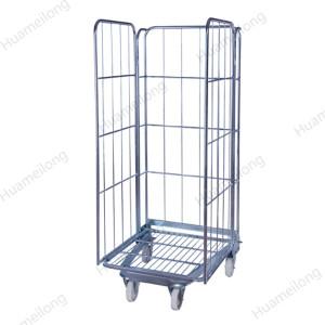 A-frame طوي تخزين الأمن تخزين الأسلاك المعدنية سوبر ماركت لفة أقفاص