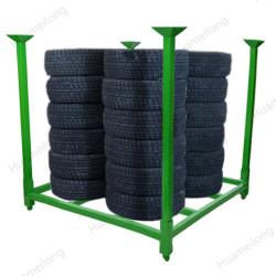 HML الثقيلة مستودع التراص المحمولة للطي البليت تخزين الرف الاطارات للبيع