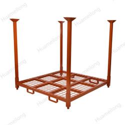 أرفف الإطارات الفولاذية ذات الرافعة الشوكية العمودية القابلة للتعديل الصناعية المخصصة للمستودع