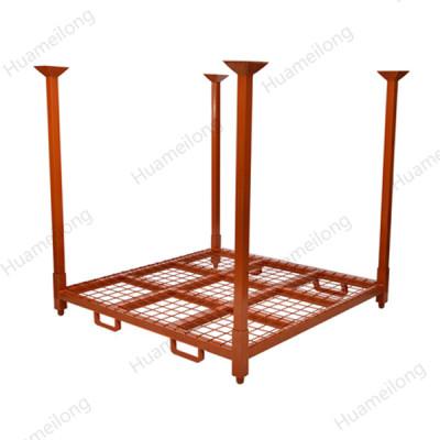 Customized industrial adjustable vertical mobile foldable forklift steel tire racks for warehouse
