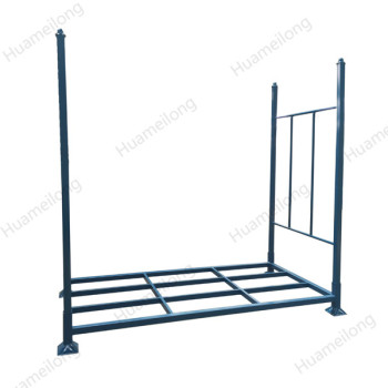Powder coated vertical collapsible stackable movable truck SUV iron tire rack storage system