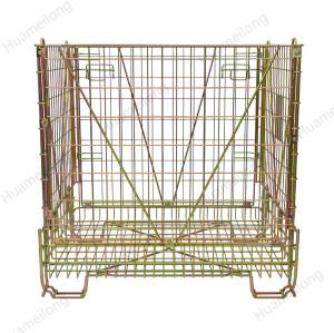 Depósito industrial de almacenamiento de almacenamiento de acero plegable mascotas preformas jaulas de alambre de metal