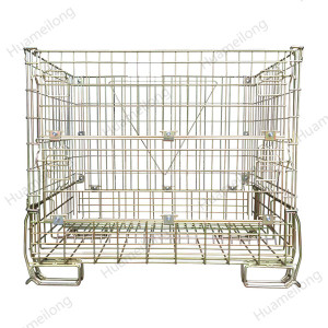 Good sale factory direct europe fold locking metallic champagne wire mesh cage for wine storage