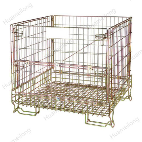 European space saver transport large wine bottle storage movable wire mesh container