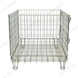 European industrial collapsible stackable storage wire container for recycle industry