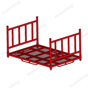 European warehouse stackable hollow tube storage steel tire post pallets racks for auto industry