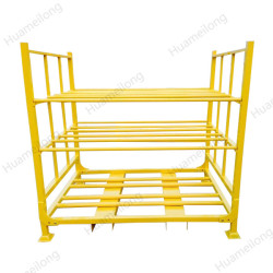 China heavy duy welding tubular warehouse stacking folding detachable truck tyre storage rack
