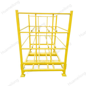 China heavy duy welding tubular warehouse stacking folding detachable truck tyre storage rack