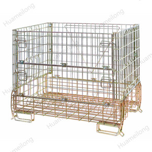 Best-selling professional powder coated fold-up security metal mesh cage for wine bottles storage