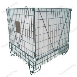 الصناعية طوي طوي التراص الملحومة الحيوانات الأليفة تخزين حاوية معدنية سلكية حاوية