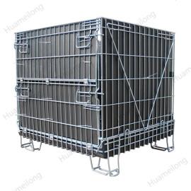Industrial large galvanized stackable forklift metal steel wire mesh storage bulk bins