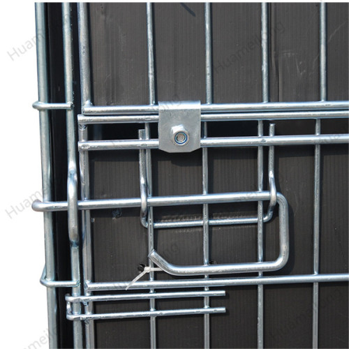 Industrial warehouse pet preform collapsible metal wire mesh container