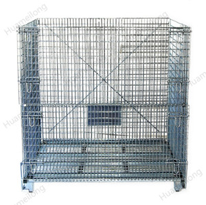 Galvanized warehouse storage steel containers with lids
