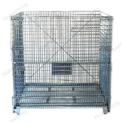 Galvanized Warehouse PET Preform Storage Steel Wire Container