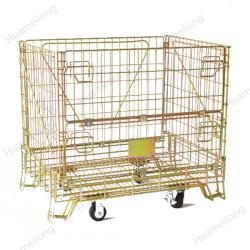 حاويات تخزين كبيرة قابلة للطي صناعية قابلة للتكديس مع عجلات