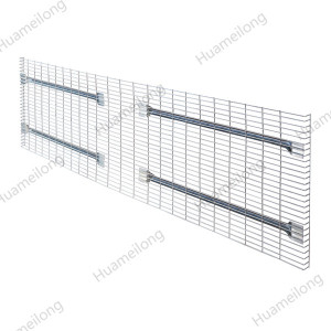 Industrial worldwide powder coated metal grid wire mesh decking panels for documents/boxes storage
