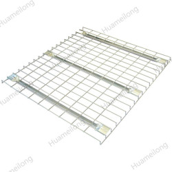 Warehouse welded galvanized steel storage flare waterfall wire mesh decking railing for pallet racks