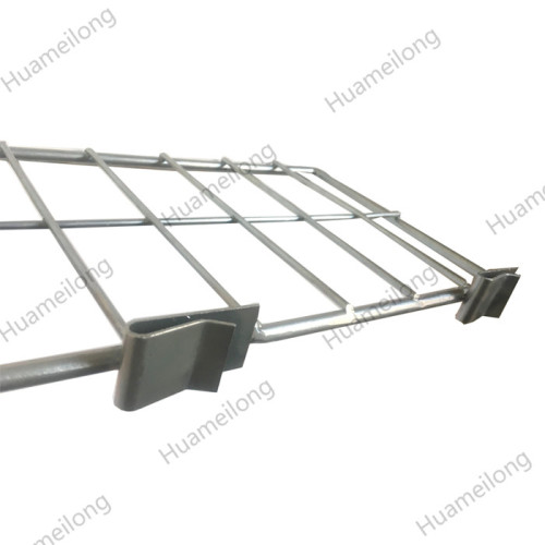 High quality zinc welded free standing shelf clip on snap in steel wire mesh dividers for deck
