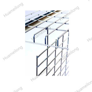 HML customized warehouse galvanized pallet rack metal wire mesh hanging divider for decking