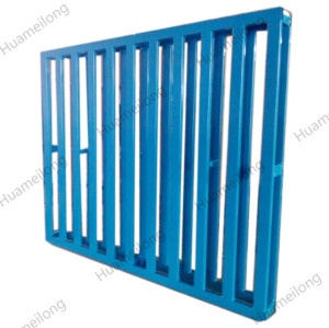Industrial heavy duty powder coating warehouse stackable metal steel pallets