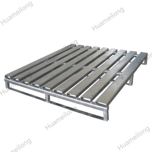 Euro transporte en polvo recubrimiento de una sola cara paleta de acero de metal de la carretilla elevadora para la venta