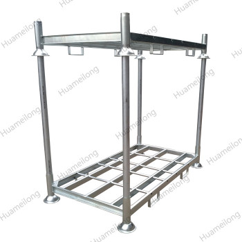 China heavy duty warehouse customize zinc coated galvanized metal tube steel post pallet rack