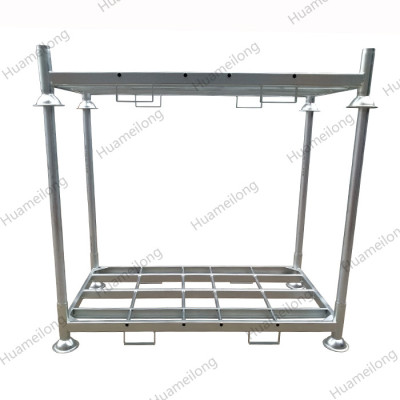 China heavy duty warehouse customize zinc coated galvanized metal tube steel post pallet rack
