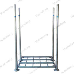 Warehouse galvanized stackable removable steel material post pallet rack for cold storage