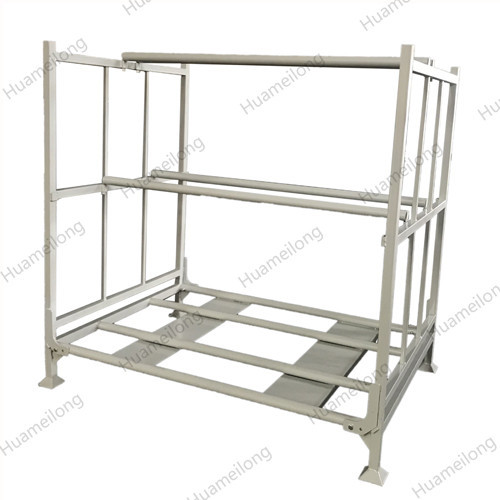 Industrial adjustable collapsible stackable stacking foldable steel storage truck tire pallet