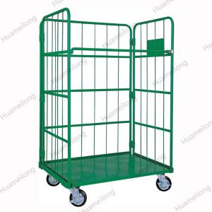 HML Medium Duty Industrial Supermarket Folding Storage Metal Roll Pallet Cage Trolley