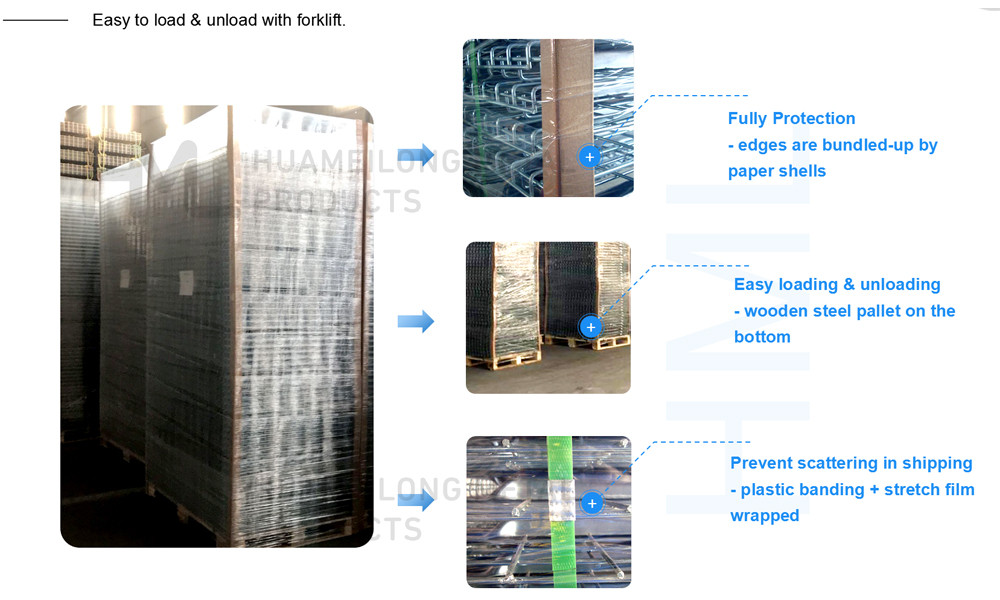 How are Huameilong's metal products packaged?