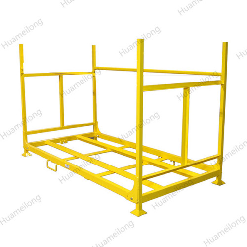 China welded transport durable adjusted mettalic rigid steel pallet tyre storing tire stand rack