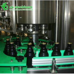 330ml glass bottle beer filling capping labeling machine line