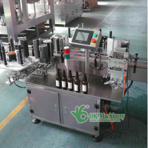 Automatic double side adhesive labeling machine