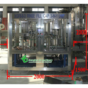 2000BPH water filling machine china XGF 8-8-3