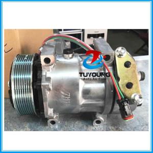 sanden 7h15 709 8067 7890 automotive air conditioning compressor for Scania Truck 114/124 2008>2011 24v 8pk 1376998 1412263 1888034