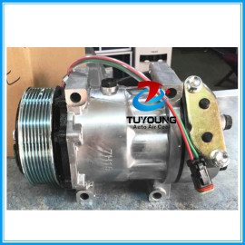 sanden 7h15 709 8067 7890 automotive air conditioning compressor fit Scania Truck 114/124 2008>2011 24v 8pk 1376998 1412263 1888034