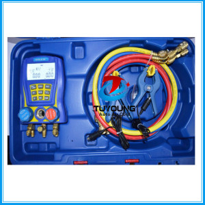Digital Refrigeration Vacuum Manifold Pressure Gauge Tester Meter Manometer Compressor, Made in China