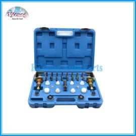 Universal vehicle AC Conditioner Repair tool box , A/C Leak Testing Detector Tool / Flush Fitting Adapter Kit