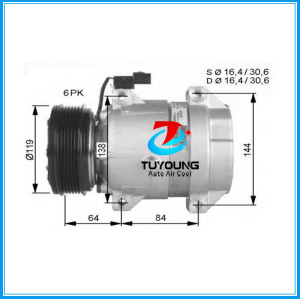 V5 Car air conditioning compressor for Ssangyong Rexton 6611304915 6611304415 6pk Produce in China