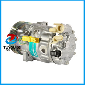 SD7C16 Compressor do ar condicionado for Peugeot 407 607 Citroen C5 1.6 C6 9660555480 9660555480 9663315580 6453VJ 6453SH