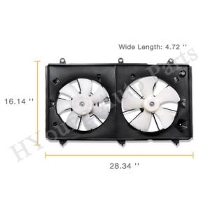 Dual Fan Radiator Cooling Fan fit Honda Accord 03-07 HO3115121 19015RAAA01 19030RAAA01 19020PND003 38616RAAA01 38616RAAA01