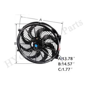 14 inch Universal Fan Radiator Cooling Electric Radiator Engine Cooling Fan 12V 90W 8 Blades 04SDB4014ABK