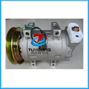 Zexel DKS15CH air compressor for Hitachi Kenki & Komatsu Excavators 506011-6800 5060116800 5060117441 5062115762 1pk 24V 138mm