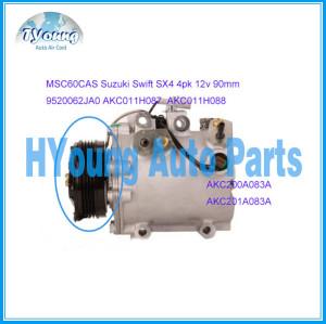 Auto ac compressor clutch for Suzuki Swift SX4 MSC60CAS 4pk 12v 90mm 9520062JA0 AKC200A083A